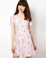 Sessun Silk Tea Dress in Clematis Print