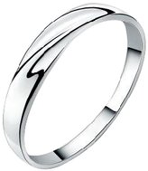 Acme Men Sterling Silver Infinity Loop Polished Wedding Band Ring