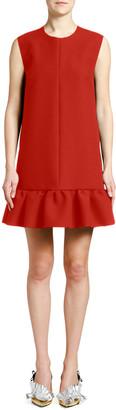 MSGM Crewneck Sleeveless Mini Flounce Dress