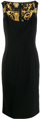 Versace scoop neck fitted dress