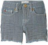 Hudson Slouch Shorts (Baby) - White Stripe-18 Months