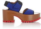 Marni Women's Neoprene Double-Strap Platform Sandals-BLUE