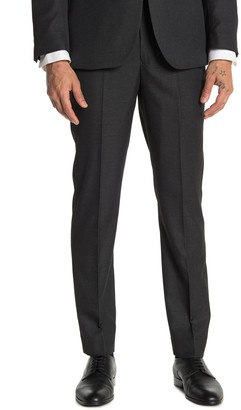 """Moss Bros Charcoal Solid Tailored Fit Suit Separates Pants - 30-34"""" Inseam"""