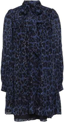 Kate Spade Leopard-print Fil Coupe Silk-blend Mini Dress