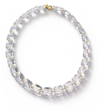 Baccarat Yellow Gold and Crystal Marie-Helene de Taillac Necklace