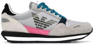 Emporio Armani Lace-Up Eagle Logo Sneakers