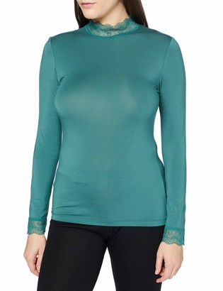 Noa Noa Women's Essential LACE Jersey T-Shirt Long Sleeve Blouse