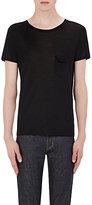 Saint Laurent Men's Silk Jersey T-Shirt-BLACK