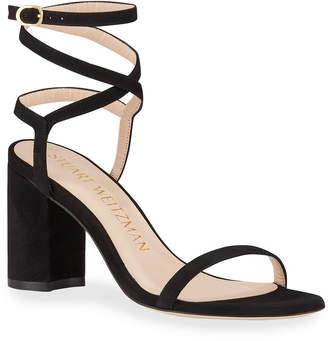 Stuart Weitzman Merinda Block-Heel Sandals