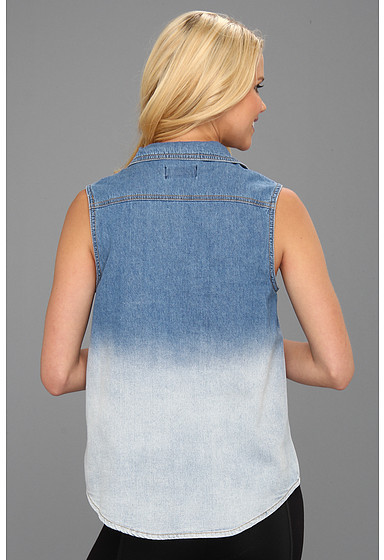 MinkPink Blue Collar Denim Shirt