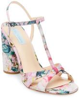Betsey Johnson Luisa Floral Block Heel Sandal