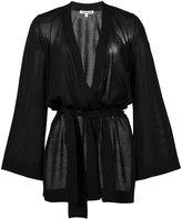 Elizabeth and James belted loose-fit cardigan - women - Polyamide/Viscose - L