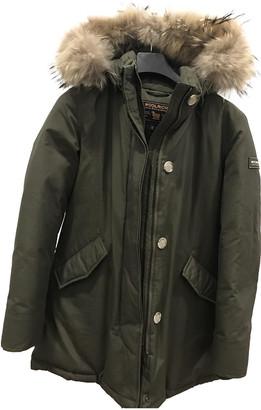 Woolrich Khaki Synthetic Jackets & Coats