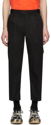 MSGM Black Gabardine Trousers