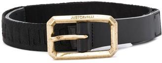 Just Cavalli Logo Trim Buckle Belt