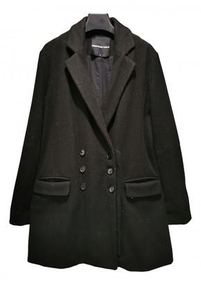 American Retro Black Wool Coats