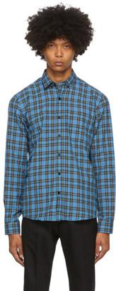 Ami Alexandre Mattiussi Blue and Black Button-Down Checkered Shirt