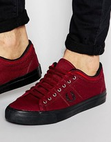 Fred Perry Kendrick Tipped Cuff Canvas Plimsolls