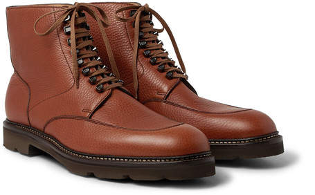 John Lobb Helston Full-Grain Leather Boots - Tan