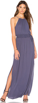 Krisa Drawstring Halter Maxi in Purple. - size S (also in XS)