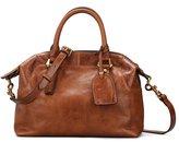 Qiwang Women's Genuine Leather Tote Shoulder Handbag Top-handle Bag Cross Body Purse Satchel