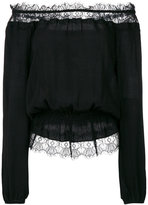 Steffen Schraut lace insert off-shoulders blouse - women - Neoprene/Viscose - 36