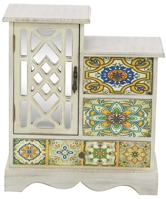 The Curated Nomad Lamartine Wood Jewelry Chest 13 inches wide, 15 inches high