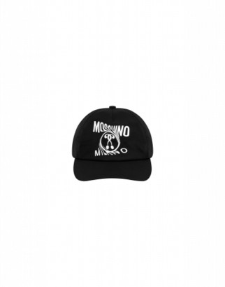 Moschino Distorted Double Question Mark Hat Unisex Black Size 1.5-3a