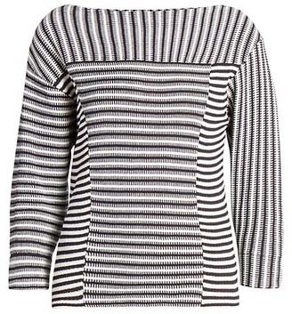 Chloé Mariniere Striped Knit Pullover Top