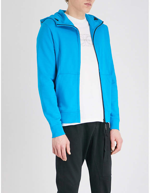 C.P. Company Goggle-embellished panelled cotton hoody