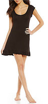 Betsey Johnson Solid Lace-Trimmed Sleepshirt