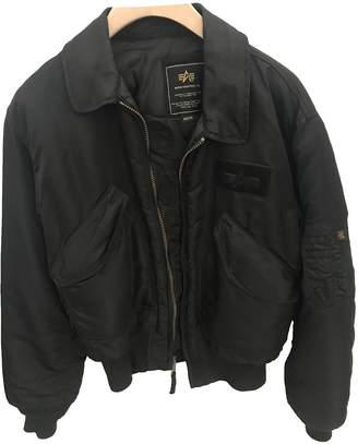 Alpha Industries Black Polyester Jackets