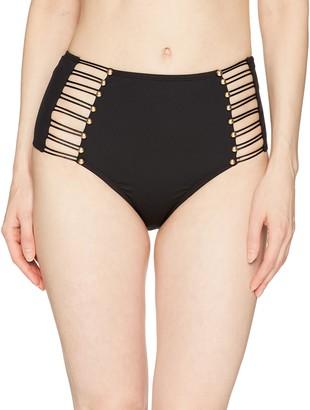 Kenneth Cole New York Women's Button up High Waist Bikini Bottom