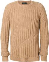Versace Cross Rib knit jumper