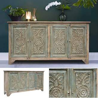 Bungalow Rose Vasques Door Sideboard Color: Green