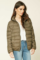 Forever 21 FOREVER 21+ Zip-Up Puffy Jacket