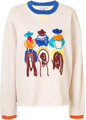 Mira Mikati Embroidered Cotton Jumper