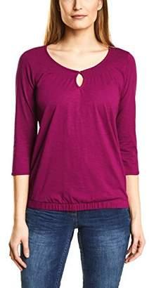 Cecil Women's 311861 Adriana Longsleeve T-Shirt, (Magic Pink 11277), S