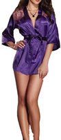 Blidece Sexy Women Lingerie Silk Lace Gown Bath Robe Babydoll Night Sleepwear Set