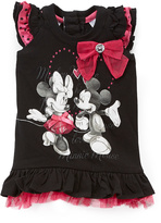 Children's Apparel Network Minnie Mouse Black Ruffle Sleeveless Top - Infant