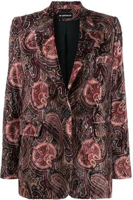 Ann Demeulemeester Velvet Paisley Print Blazer