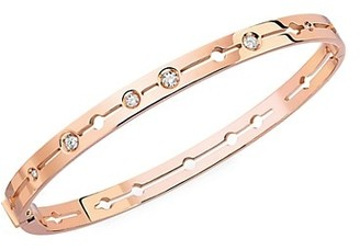 Dinh Van Pulse 18K Rose Gold & Diamond Small Bangle Bracelet