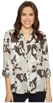 Calvin Klein Jeans Camo Printed Utility Shirt Women's Clothing