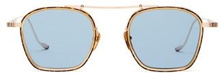 Jacques Marie Mage Baudelaire Top-bar Titanium Sunglasses - Blue