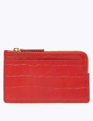 Marks and Spencer Leather Croc Effect Coin Purse