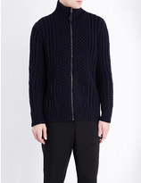 Pringle Ribbed trim cashmere cardigan