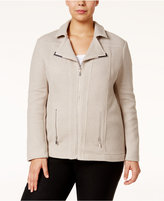Alfani Plus Size Textured Moto Jacket, Only at Macy's