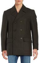 Lauren Ralph Lauren Wool-Blend Double-Breasted Pea Coat