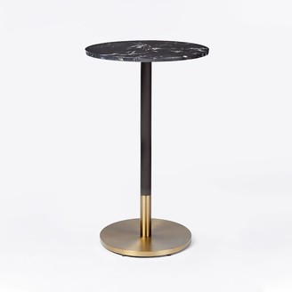 west elm Black Marble Bar Table