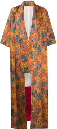 A.N.G.E.L.O. Vintage Cult 1970s Floral Print Kimono Coat